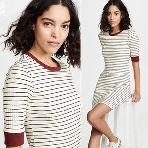 NWT-JOIE-Tralena porcelain striped t-shirt dress
